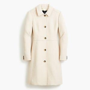 JCrew Lady Day Coat Vanilla off White Cream 00 XS